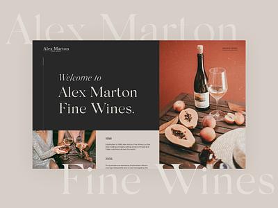 Alex Marton Fine Wines website concept ecommerce color store shop design website ui ux uiux webdesign