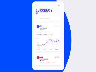 Currency App UI daily ui currency ux colorful color ui minimal flat design app
