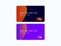 Minimalist Credit Card Design dailyui color palette color flat concept credit card minimal colorful illustration