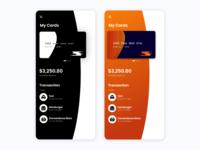 Credit Card App - UI Design ui concept credit card dailyui design colorful color app minimal flat