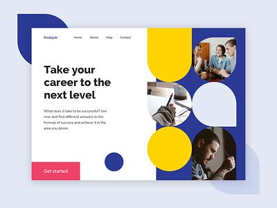 Findajob - Concept career uxui webdesign recruitment agency recruitment platform finder job