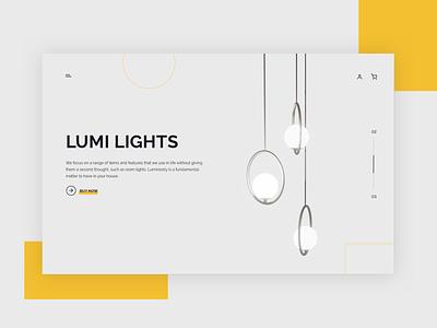 Lumi - Website Design beautiful logo branding typography design agency illustration ecommerce design ecommerce web ux ui webdesign design uxui