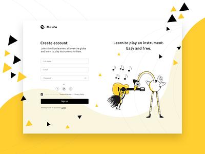 Musico - Website Design elearning ux branding animation design agency ui web design webdesign uxui
