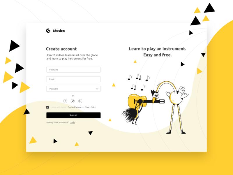 Web Design for E-learning: Musico elearning ux branding animation design agency ui web design webdesign uxui