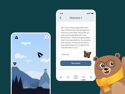 Hello Bear - Mobile App Design user interface design user interface icons mobile app design mobile app mobile branding illustration typography design agency uxui