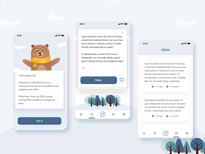 Hello Bear - Mobile App Design beautiful agency ux design uxui web design agency mobile app design agency mobile app design user interface design mobile app branding ui design agency