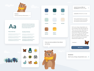 Hello Bear - Styleguide mobile beautiful mobile app design color palette typography styleguide mobile app design ux ui design agency uxui