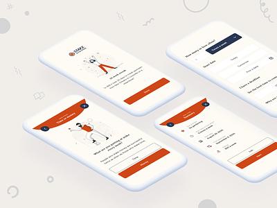 Stake Something - Mobile App Design illustration typography beautiful mobile app uxui mobile app design agency ux design design agency