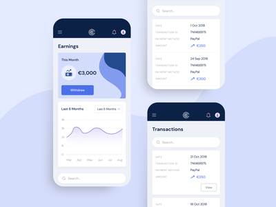 Clear Common - Mobile application mobile design mobile ui mobile app design typography beautiful ui ux design agency uxui design agency