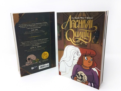 'Archival Quality' logo and book design