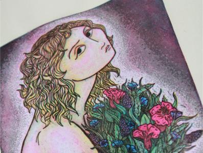 'Persephone' copperpate process print
