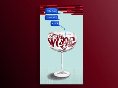 'enter alcohol, exit words' poster design