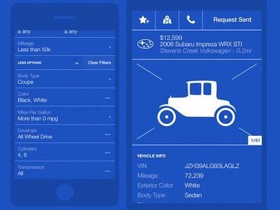 Mobile Car Listing