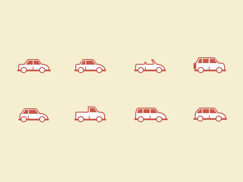 Car Body Type Icons By David Sasda On Dribbble