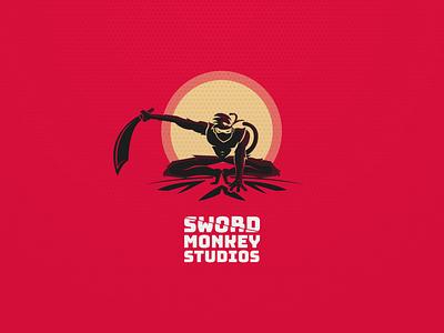 Sword Monkey Studios - Brand Design monkey logo design logo brand illustration graphic designer graphic design dribbble design branding icon design icon