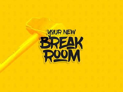 Your New Break Room - Brand Design break room rage room wordmark logo type type design typography illustration graphic designer graphic design design icon design icon brand design branding