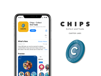 Chips Collect and Trade - Brand Design iphone apple app design mockup design mock-up logo design logos rebrand mockup minimal vector logo logodesign graphic designer graphic design dribbble design branding icon design icon