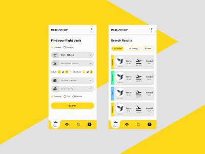 Haba Airtour (airplane booking platform) filter uiuxdesign booking trip airplane uidesign application web branding ux ui design creative