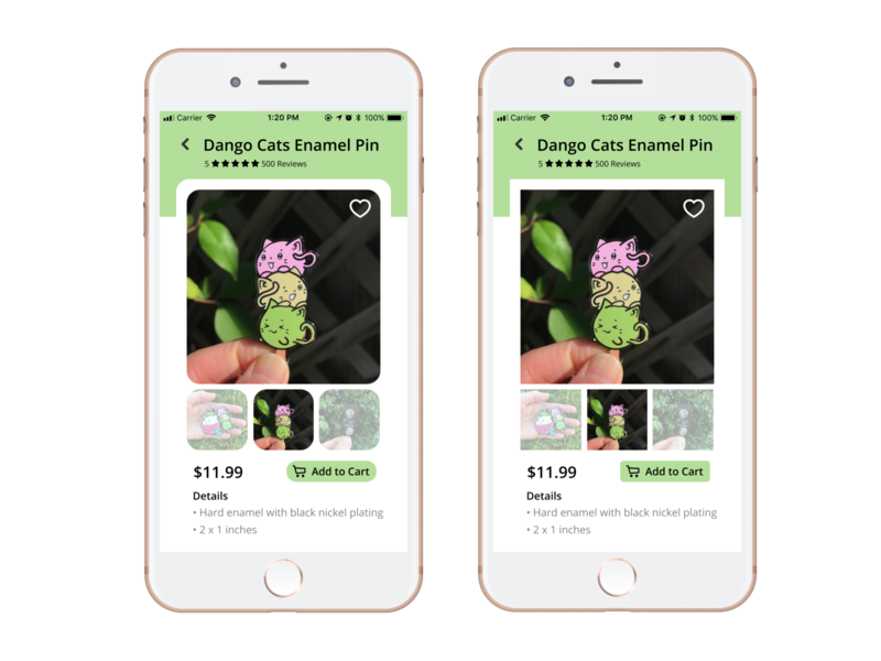 Daily UI Challenge: E-Commerce Shop cute animals food dessert dango shopping app shopping crafting product design design pins ecommerce cute kawaii cats shop daily ui 008 dailyui daily ui challenge