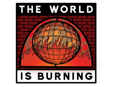 The World Is Burning Sticker