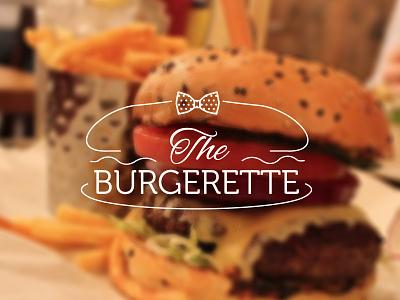 The Burgerette logo burger blog burgerette rustic slab serif bow tie bow tie