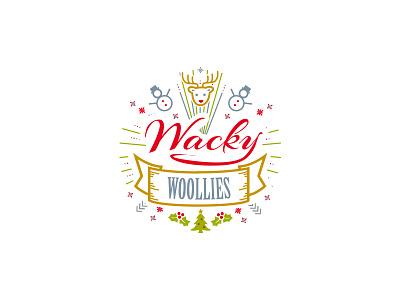 Wacky Woolies - Team Badge christmas knit nordic knits wacky woolies illustration logo lines badge team
