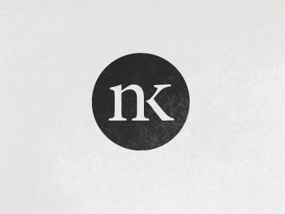 NK - Nathan Kerner Logo logo nk circle typography