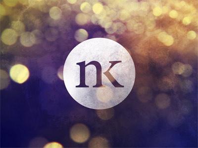 NK - Nathan Kerner Logo Bokeh logo nk circle typography bokeh