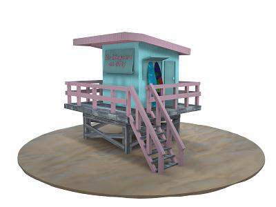Beach house lifeguard beach beach house c4d 3d artist 3d art cinema4d 3ddesign 3d