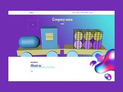 Wordpress theme: Kids wordpress design uiux ui wordpress theme wordpress template c4d design cinema4d 3ddesign 3d