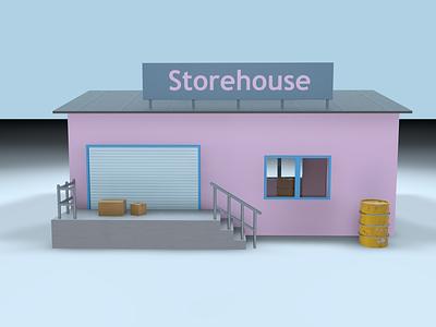 Storehouse barn storehouse c4d 3d artist 3d art cinema4d 3ddesign 3d