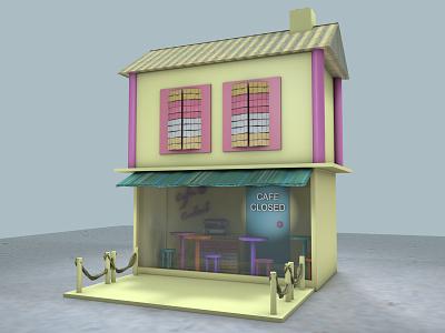 Bar c4d 3d art 3dart cinema4d 3ddesign 3d cafeteria cafe bar