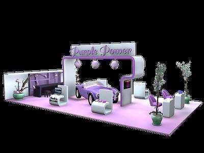 Purple Power exhibition stand purple c4d design cinema4d 3ddesign 3d exhibition stand stand exhitibion