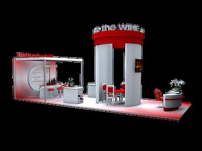 Exhibition stand: Taste the WINE wine 3d artist c4d design cinema4d 3ddesign 3d exhibition stand design exhibition design exhibition