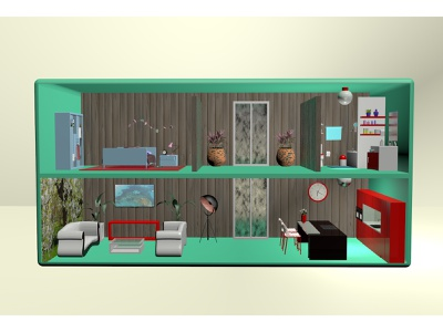 Radio house maxonc4d 3d artist 3d art design c4d cinema4d 3ddesign 3d radio house house bathroom bedroom kitchen livingroom radio