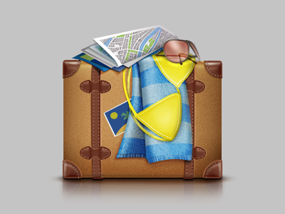 Finally holiday! icon teaser illustration logo iphone gesign drawing idea good clean button