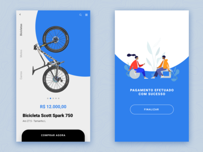 bike shop checkout page mobile