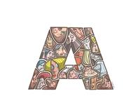 """ShapeChallenge Faces: Letter """"A"""""""