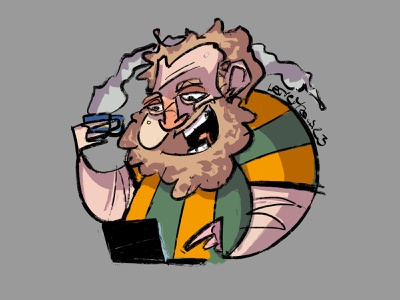 ProfilePic in the time of covid (and home office) cartoon homeoffice covid19 profile characterdesign procreate