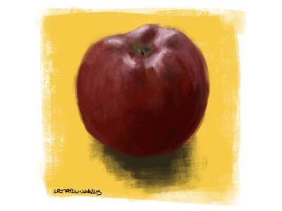 apple speedpaint red delicious apple sketch coffee procreate