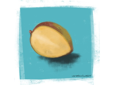 mango speedpaint digitalart fruit mango speedpainting speedpaint coffee sketch procreate