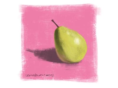 pear speedpaint stilllife fruit painting digitalart speedpaint pear illustration coffee sketch procreate