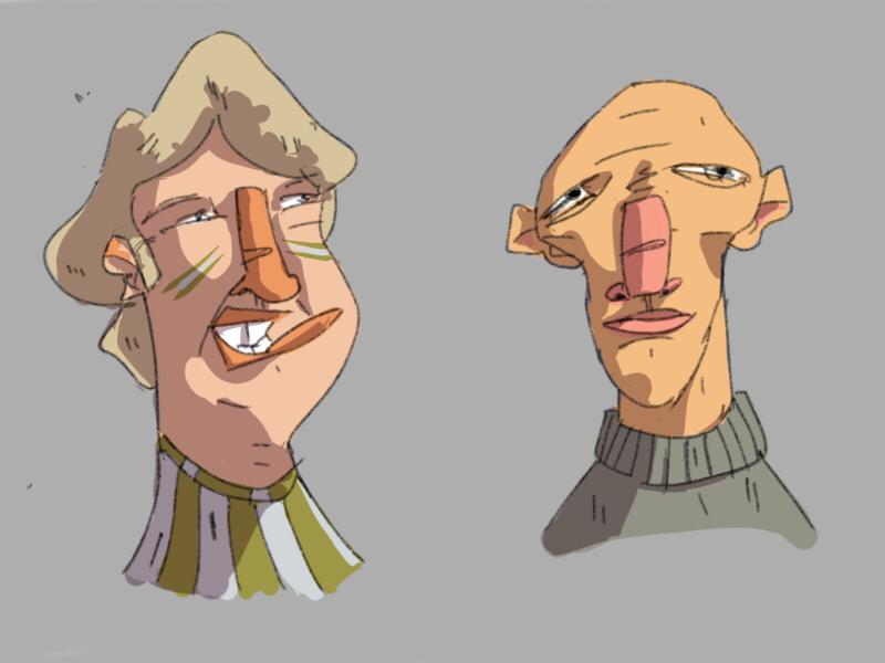 Random faces sketch no3