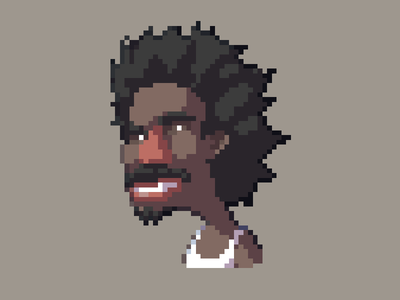Darnell Turner my name is earl portrait crabman pixel pixelart