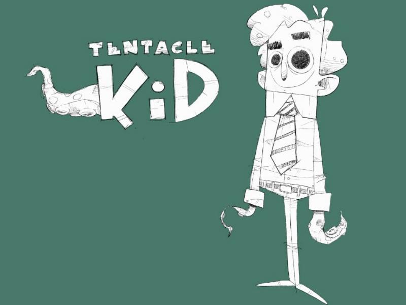 Tentacle kid sketch WIP character superhero wip procreate characterdesign tentaclekid
