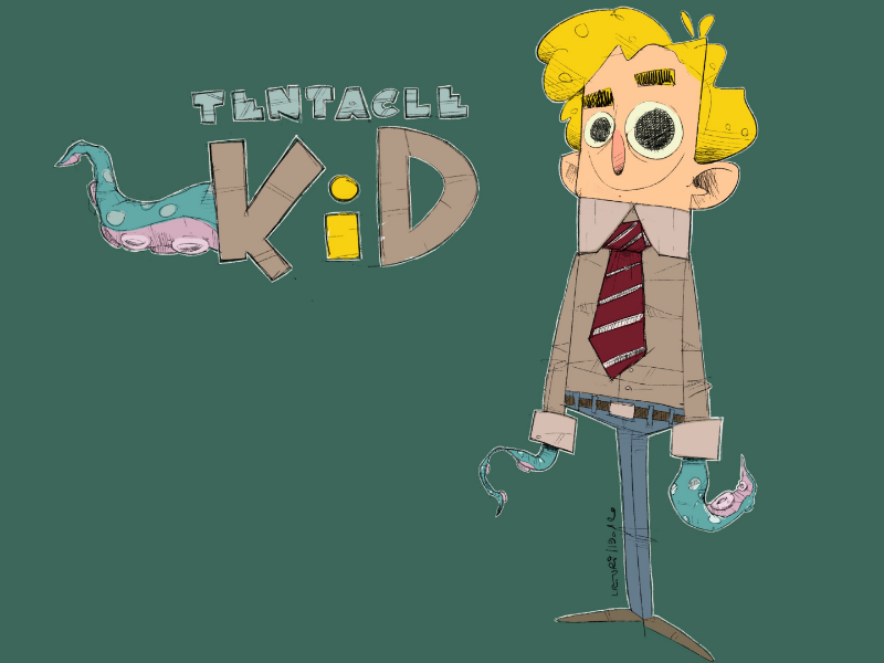 Tentacle kid sketch wip 2. wip characterdesign character tentaclekid procreate