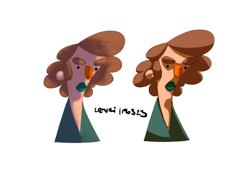 Shading experiment in affinity designer layers shading affinity designer characterdesign
