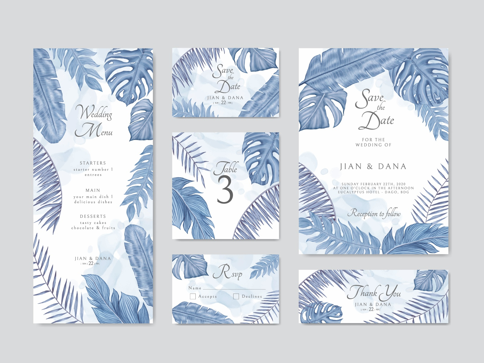 Blue Exotic Tropical Leaves Frame Wedding Invitation Template By Dheo Donny Adittya On Dribbble To get more templates about posters,flyers,brochures,card,mockup,logo,video,sound,ppt,word,please visit pikbest.com. blue exotic tropical leaves frame