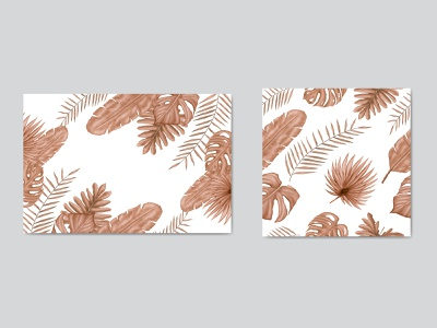 Summer tropical leaves background and seamless pattern leaf pattern seamless wedding watercolor tropical summer monstera holiday poster leaves invitation illustration frame floral exotic wallpaper card plant background