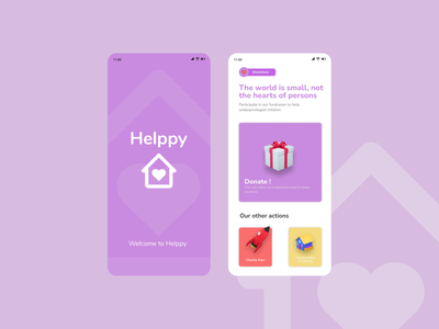 Helppy donation charity app ux ui design